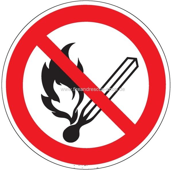 Feuer,offenes Licht und Rauchen verboten-Symbol-Schild - https://www.f