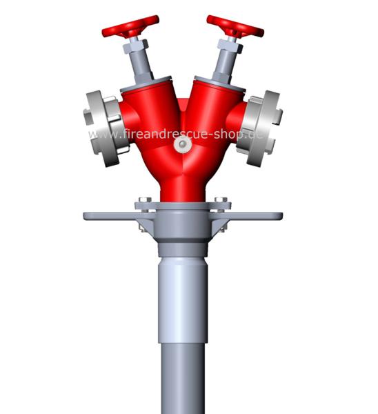 AWG Standrohr Feuerwehr B Kupplung Hydrant Unterflurhydrant